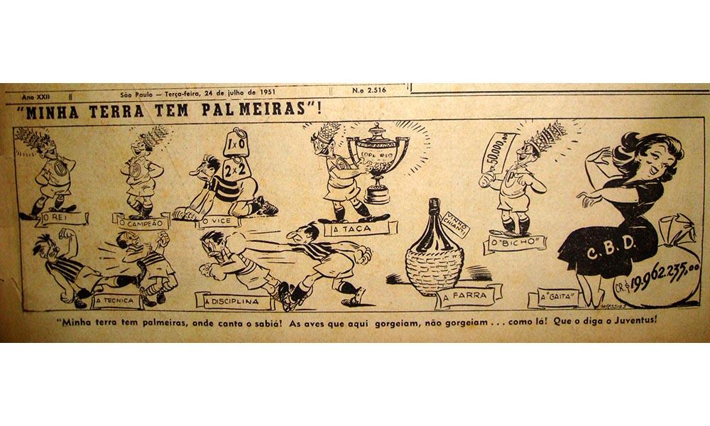 Jornais brasileiros da época homenagearam a conquista palmeirense