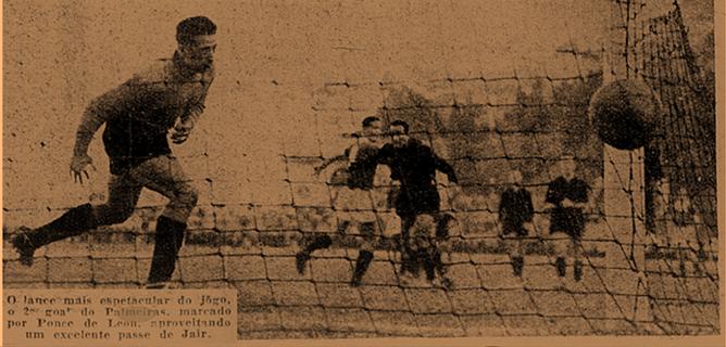 Ponce de Leon aproveita passe de jair para fazer o segundo gol do Verdão