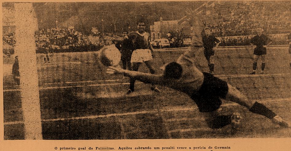 Aquiles, de pênalti, fez o primeiro gol do Palmeiras no Mundial Interclubes